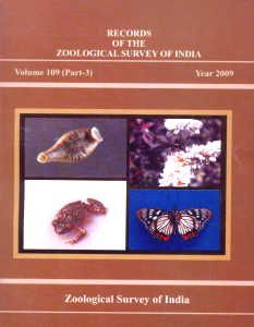 Records of the Zoological Survey of India, Vol. 109 (Part 3)